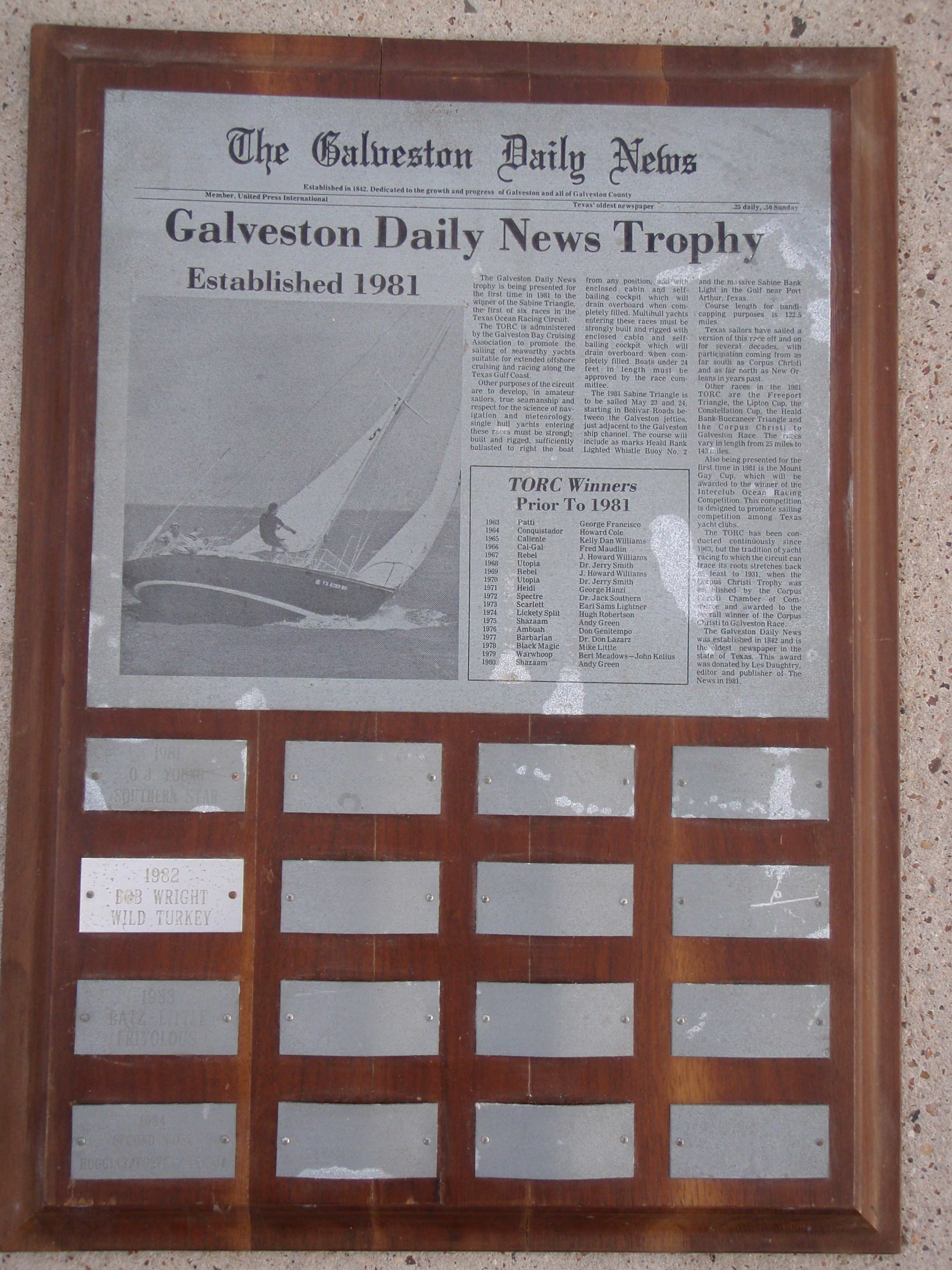 Galveston Daily News Trophy